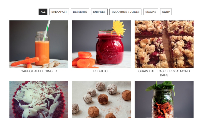 Vegan recipes, paleo recipes, nutritionist recipes.