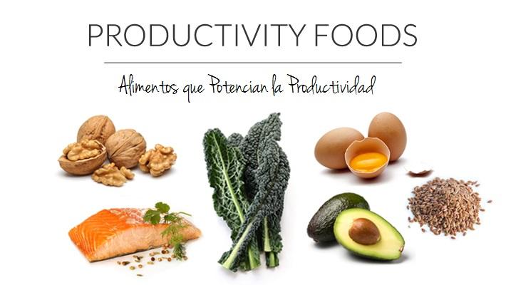 Alimentos que potencian la productividad