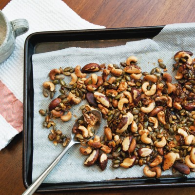 Maple roasted nuts recipe