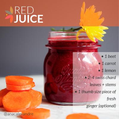 Instruc Food Red Juice