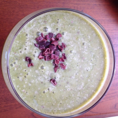 Mint chip smoothie, green smoothie