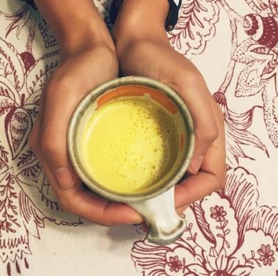 turmeric ginger latte, turmeric milk
