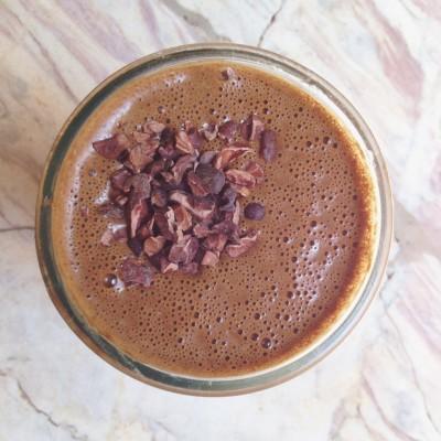 Vegan Chocolate Smoothie, Paleo Chocolate Smoothie