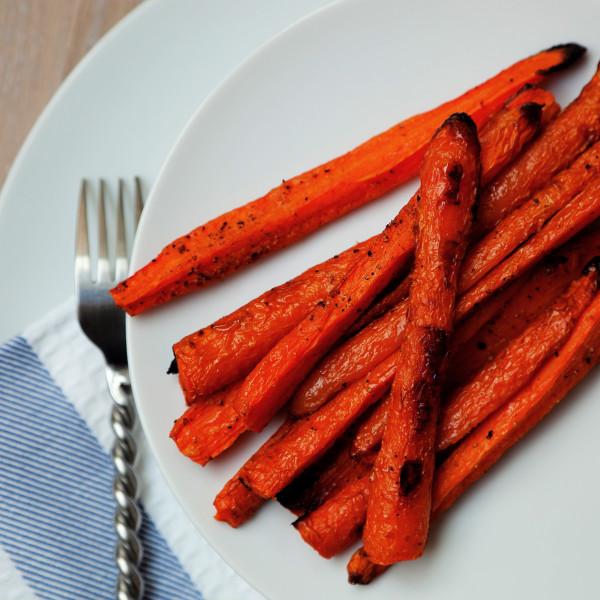 Roasted carrots recipe, zanahorias asadas