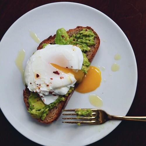 Poached egg and avocado toast recipe