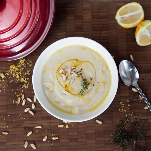 Cauliflower soup with toasted pine nuts recipe, Cauliflower soup recipe