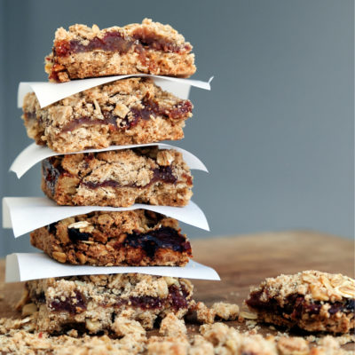 Date square recipe, healthy date squares, vegan date squares, paleo date squares